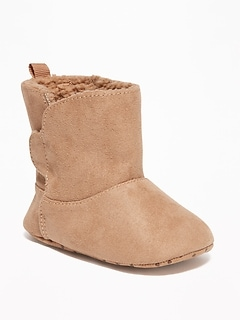 Sherpa-Lined Cozy Boots for Baby