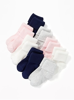 Triple-Roll Socks 8-Pack For Toddler & Baby