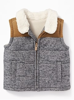Color-Block Zip Vest for Baby