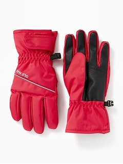 Water-Resistant Snow Gloves for Girls