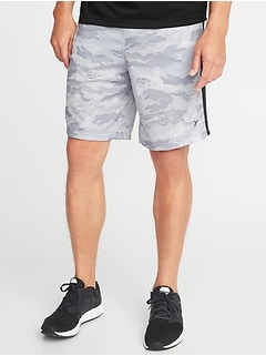 Go-Dry Mesh Side-Stripe Shorts for Men - 10-inch inseam