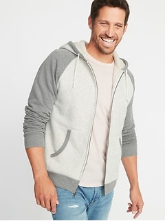 Classic Sherpa-Lined Raglan Hoodie for Men