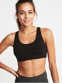 Light-Support Lattice-Back Sports Bra for Women