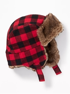 Faux-Fur-Lined Trapper Hat for Baby