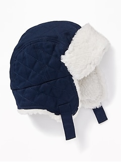 Sherpa-Lined Trapper Hat for Baby