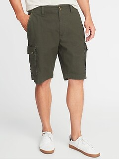 Broken-In Built-In Flex Ripstop Cargo Shorts for Men - 10-inch inseam