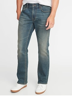 Built-In Tough Boot-Cut Jeans for Men