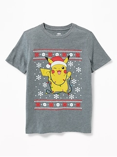 Pokémon &#153 Pikachu Christmas Tee for Boys