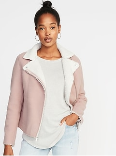 Sherpa Moto Jacket for Women
