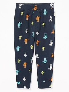 Patterned Jersey Leggings for Toddler Boys