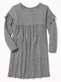 Plush-Knit Ruffle-Trim Swing Dress for Girls