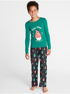 Holiday-Graphic Sleep Set for Boys