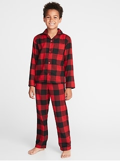Plaid Flannel Sleep Set for Boys