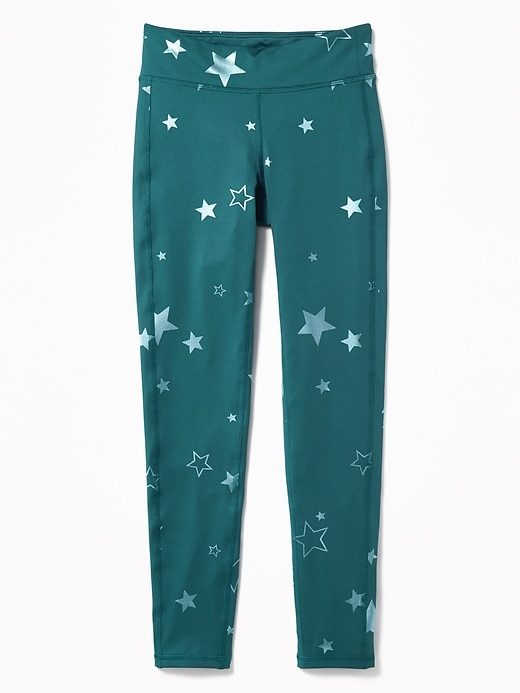 Go Dry Foil Print Performance Leggings For Girls by Old Navy