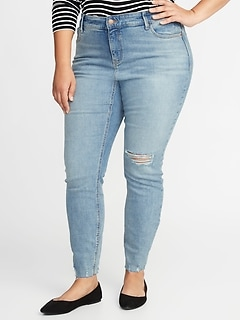 High-Rise Secret-Slim Pockets Plus-Size Rockstar Super Skinny Jeans