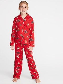 Holiday-Graphic Sleep Set for Girls
