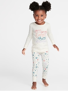 Holiday-Graphic Sleep Set for Toddler & Baby