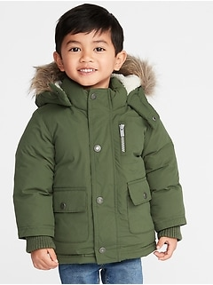 Hooded Snow Jacket for Toddler Boys