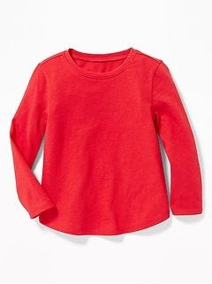 Scoop-Neck Jersey Tee for Toddler Girls