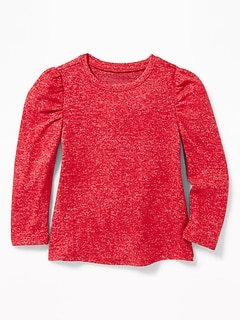 Plush-Knit Top for Toddler Girls