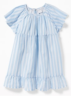 Flutter-Sleeve Babydoll Dress for Baby
