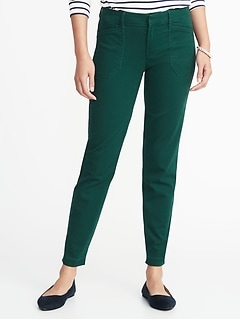 Mid-Rise Sateen Pixie Ankle Chinos for Women