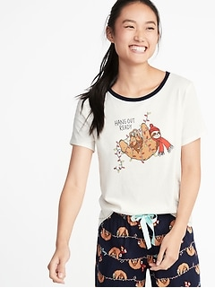 EveryWear Holiday-Graphic Tee for Women