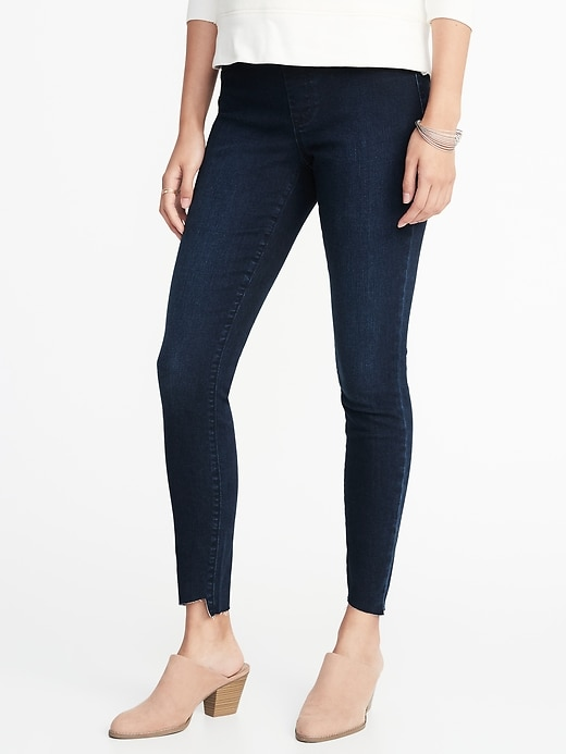Old Navy Women's Rockstar Step-Hem Jeggings
