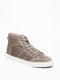 Sherpa-Lined Velvet High-Tops for Women