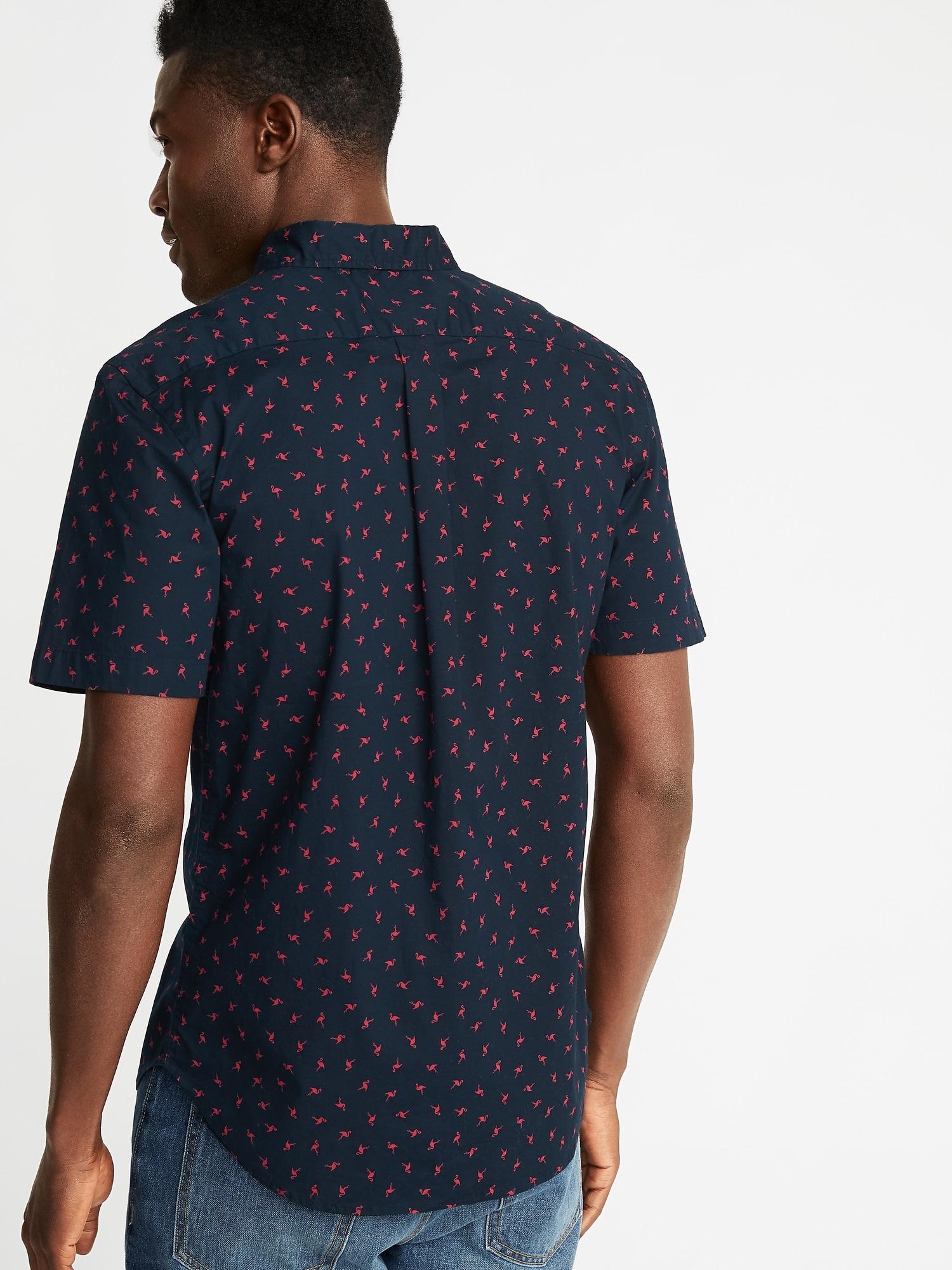 2109ebe614 Slim-Fit Printed Built-In Flex Everyday Shirt for Men ...