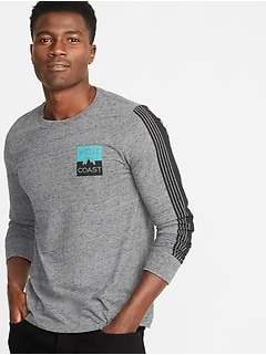 Soft-Washed Graphic Long-Sleeve Tee for Men