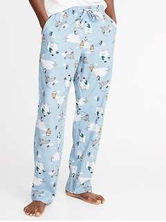 Patterned Flannel Sleep Pants for Men