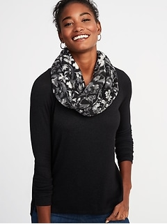 Patterned Performance Fleece Infinity Scarf for Women