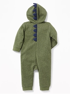 Hooded Dinosaur Critter One-Piece for Baby