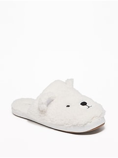 Sherpa Critter Slide Slippers for Women