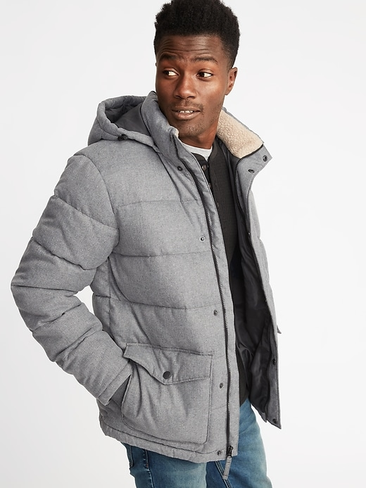 Men's Quilted Detachable-Hood Heritage Jacket