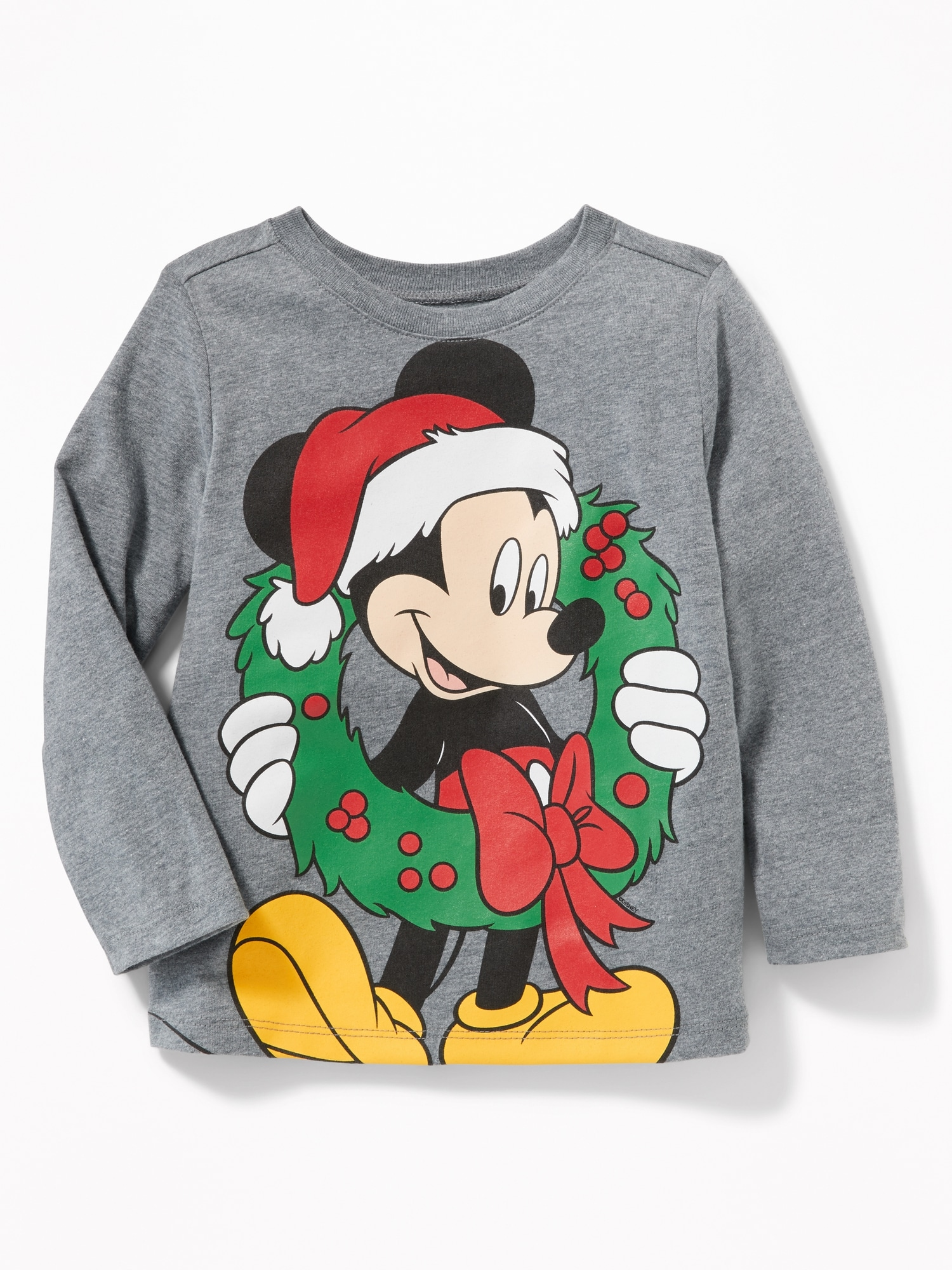 disney mickey mouse christmas tee for toddler boys