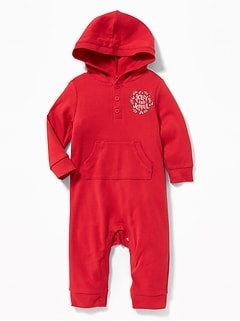 Graphic Hooded One-Piece for Baby