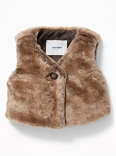 Faux-Fur Vest for Baby