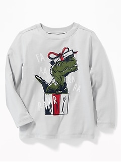 Holiday Graphic Long-Sleeve Tee for Toddler Boys