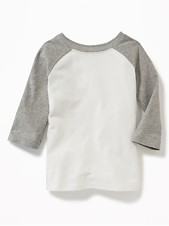 Raglan-Sleeve Baseball Tee for Toddler Boys