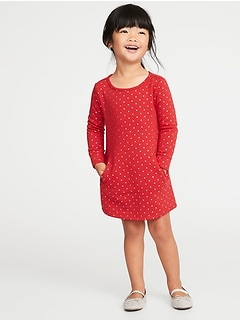 Fleece Shift Dress for Toddler Girls