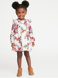 Crepe Floral Babydoll Dress for Toddler Girls