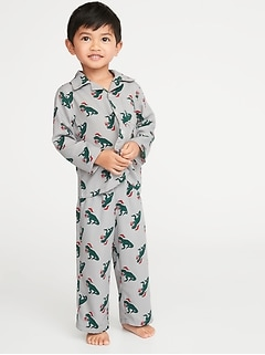 Printed Pajama Set for Toddler & Baby