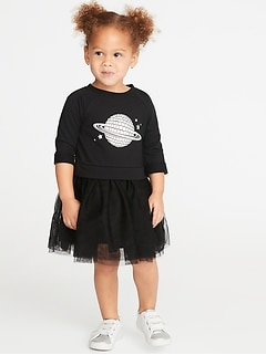 Fit & Flare Tutu Dress for Toddler Girls