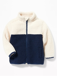 Cozy Sherpa Zip Jacket for Baby
