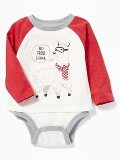 2-in-1 Raglan Bodysuit & Top for Baby