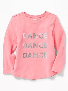 Graphic Long-Sleeve Tee for Toddler Girls
