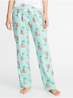 Patterned Flannel Sleep Pants for Women