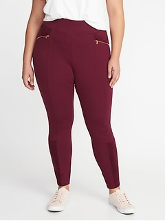 High-Rise Sueded-Trim Plus-Size Stevie Pants